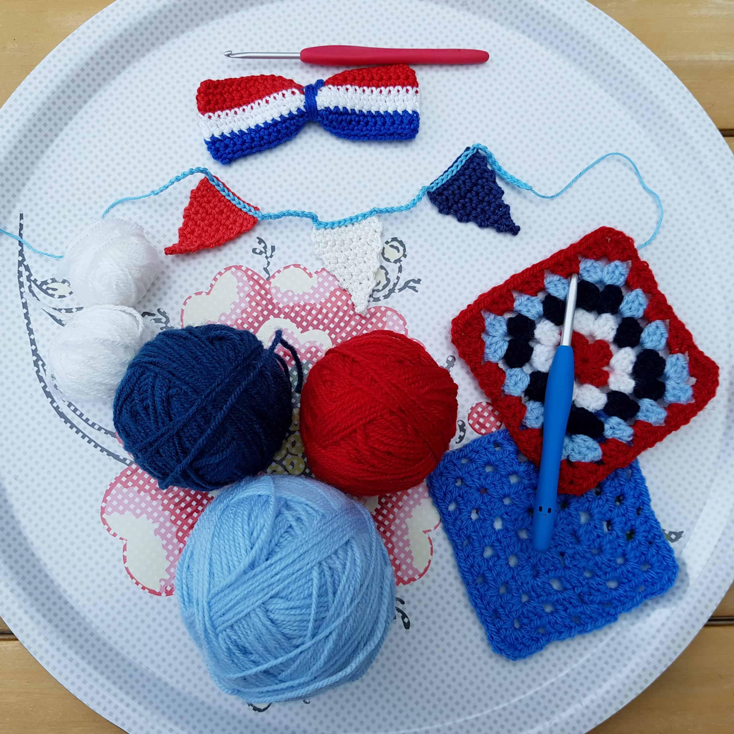 Cursussen, bollen wol in verschillende kleuren